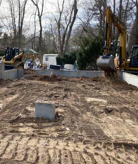 Backfilling foundation
