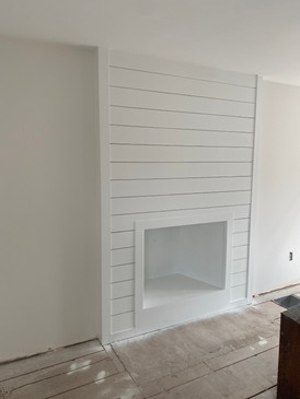 Fireplace surround painting