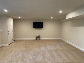 Awesome basement family room remodel