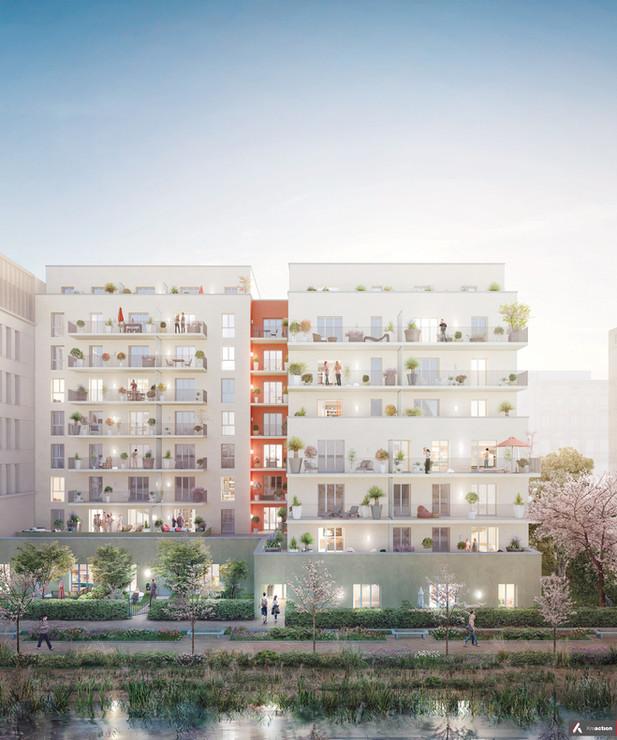 Logements - ZAC Nancy Grand Coeur, Nancy (54) - 2018