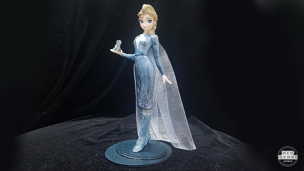ELSA FALL DRESS MODEL DISNEY FROZEN2 ANIME CHARACTER 3D PRINT STL FILE