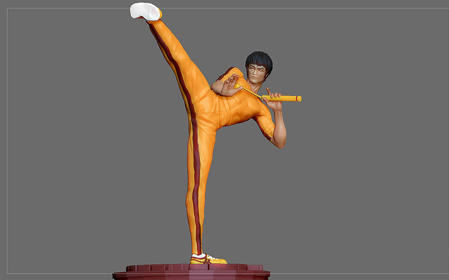 BRUCE LEE STATUE 2 ACTION MOVIE STAR KUNGFU MASTER MARTIAL ARTS 3D print model