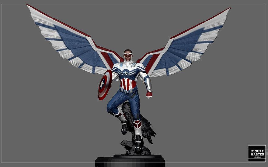 CAPTAIN AMERICA FALCON SAM WINTER SOLDIER AVENGERS MCU CHARACTER 3D print model