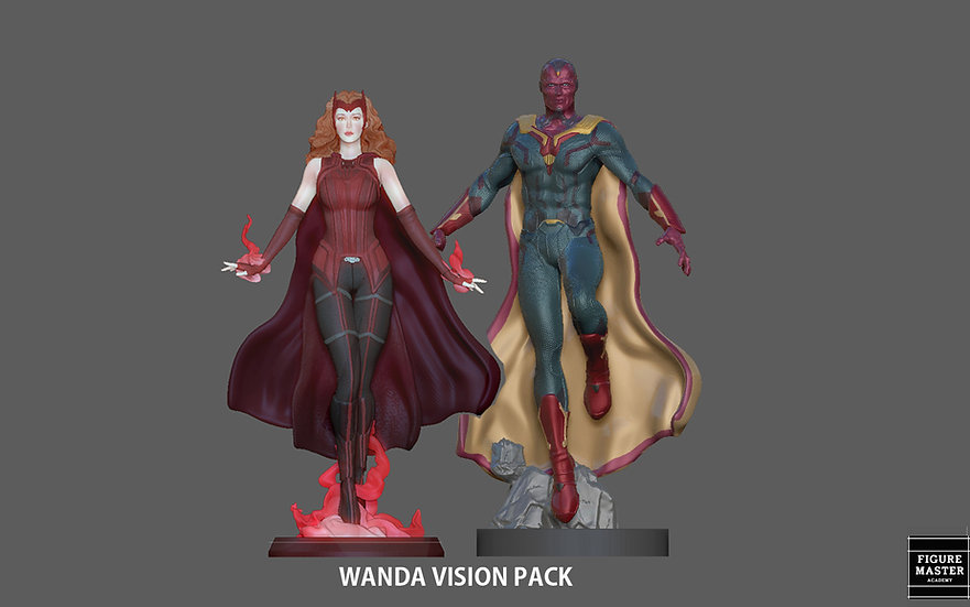 WANDA VISION PACK SCARLET WITCH FROM MARVEL MCU DRAMA WANDA VISION CHARACTE