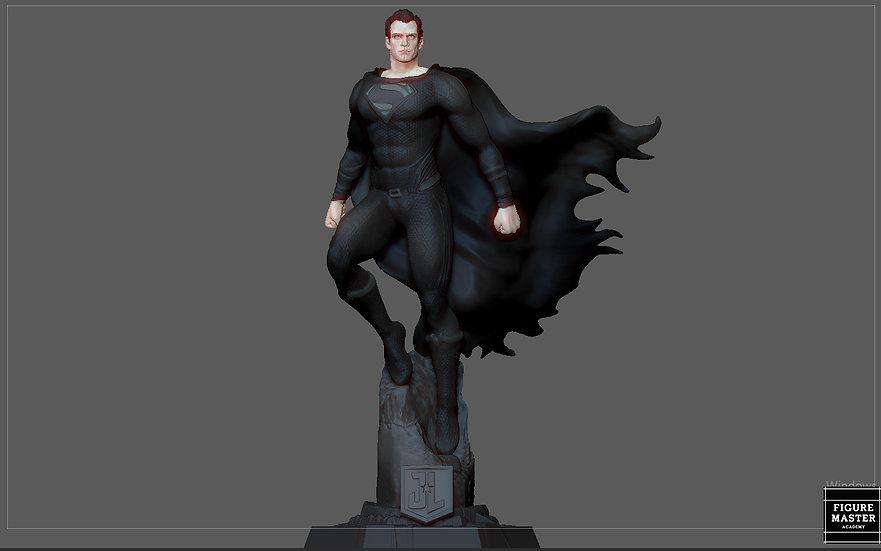 BLACK SUPERMAN JUSTICE LEAGUE JACK SNYDER CUT HENRY CAVILL DC HERO