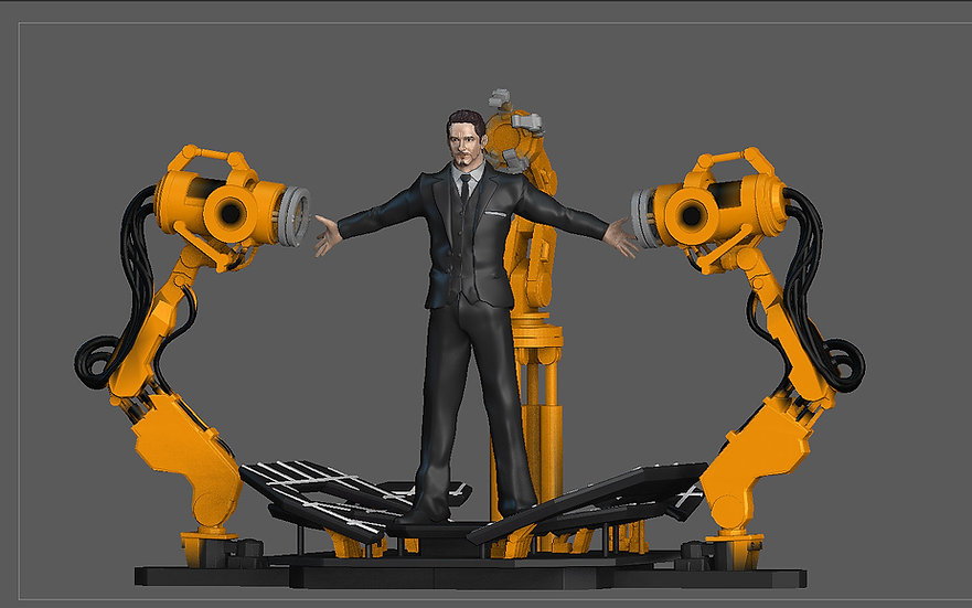 IRONMAN GANTRY TONY STARK SET STATUE MARVEL MCU AVENGERS 3D PRINT