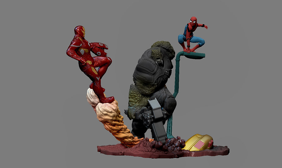 IRONMAN SPIDERMAN AVENGERS INFINITY WAR STATUE CULL OBSIDIAN FOR 3D PRINT