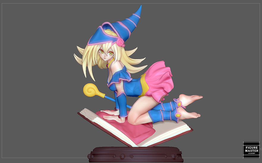 DARK MAGICIAN GIRL YU GI OH ANIME CUTE CHARACTER 3D PRINT