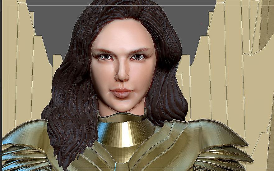 WONDERWOMAN 1984 GOLDEN ARMOR STATUE DC MOVIE GAL GADOT 3D print model ww 84