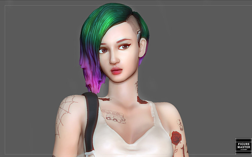 JUDY ALVAREZ STATUE CYBERPUNK 2077 GAME CHARACTER GIRL 3D PRINT