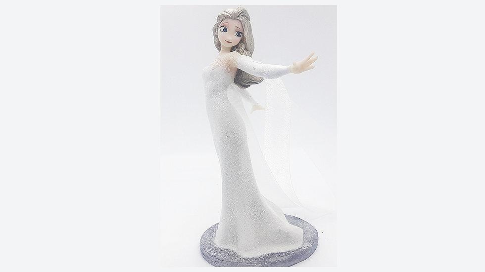 ELSA WHITE DRESS MODEL DISNEY FROZEN2 ANIME CHARACTER 3D PRINT STL FILE