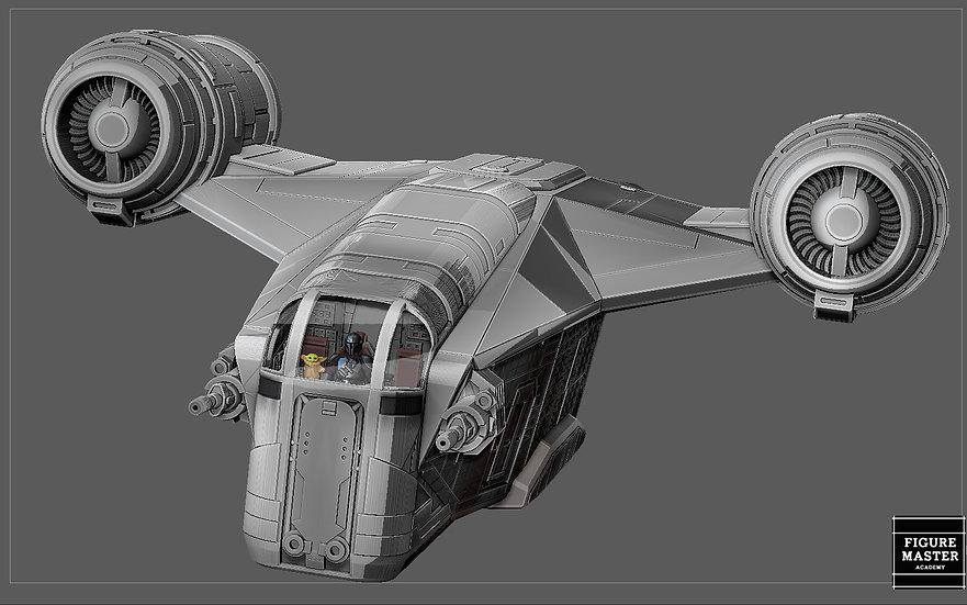 RAZOR CREST WITH COCKPIT MANDALORIAN STARWARS DISNEY 3D PRINT MODEL