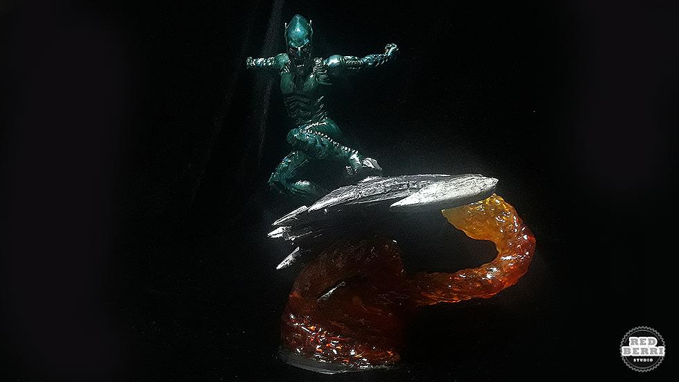 GREEN GOBLIN SPIDERMAN SAMRAIMI  VERSE STATUE 3D PRINT