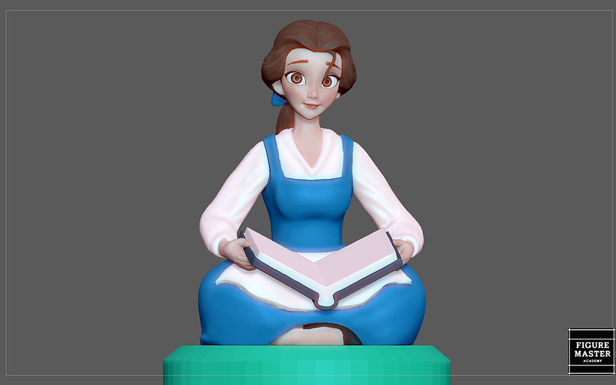 BELLE PRINCESS STATUE BEAUTY AND THE BEAST BOOK DISNEY ANIME 3D print