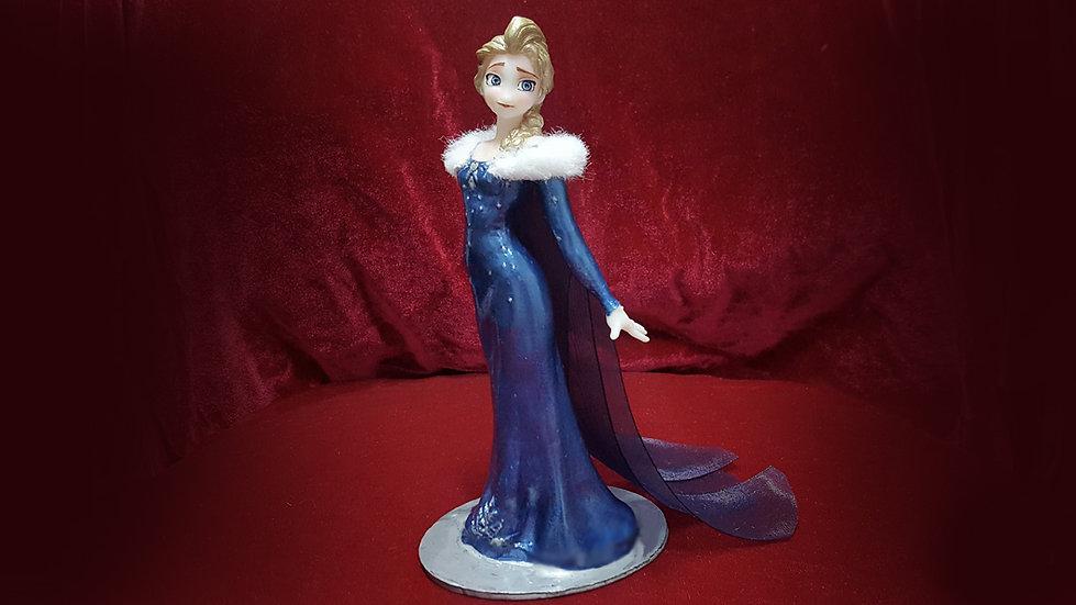 ELSA BLUE DRESS MODEL DISNEY FROZEN2 ANIME CHARACTER 3D PRINT STL FILE