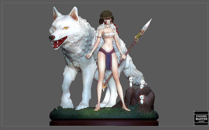 MONONOKE HIME MIYAZAKI HAYAO ANIME SEXY GIRL WILD CHARACTER 3D print model