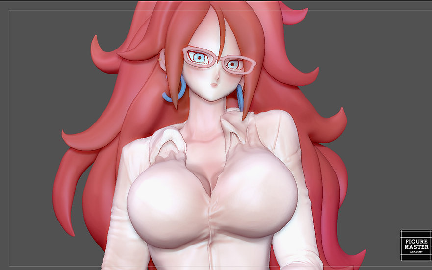 ANDROID 21 SEXY STATUE OFFICE GIRL DRAGONBALL ANIME CHARACTER GIRL 3D print mode
