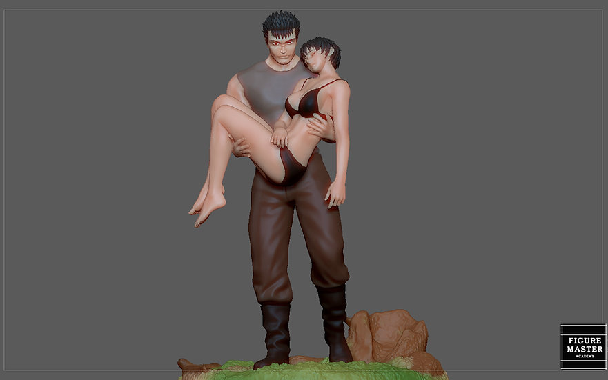 BERSERK GUTS CASCA FANTASY ANIME SWORD CHARACTER 3D PRINT MODEL 3D print model