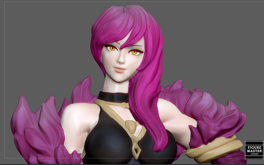 EVELYNN SEXY STATUE LOL LEAGUE OF LEGENDS GAME FEMALE CHARACTER GIRL 3D PRINT