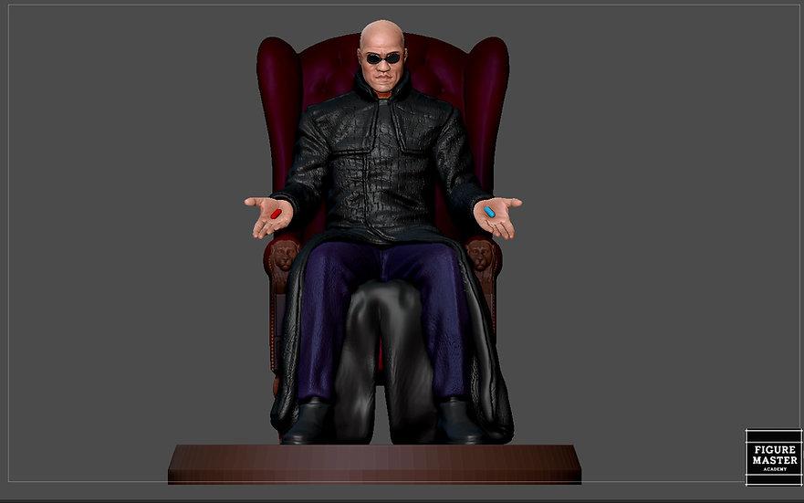 MORPHEUS MATRIX STATUE MOVIE CHARACTER MAN 3D PRINT MODEL