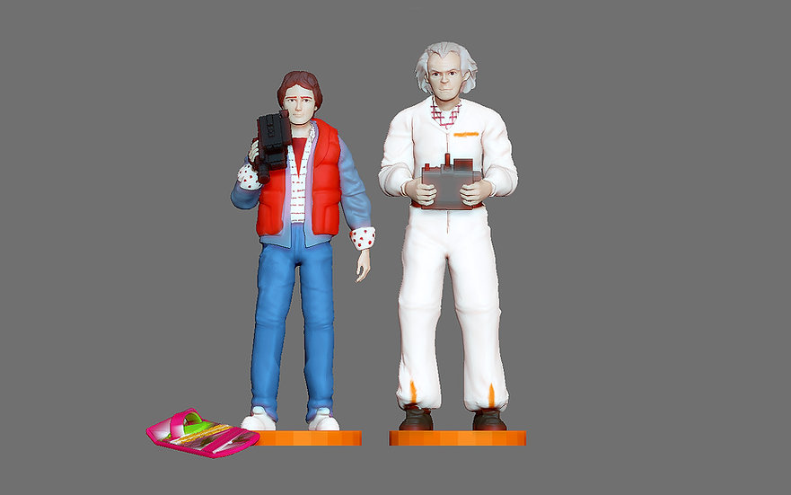 MARTY MCFLY DOC EMIT BROWN BACK TO THE FUTURE FIGURINE MINIATURE