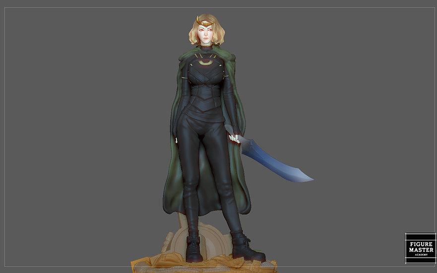 SYLVIE LADY LOKI MARVEL MCU LOKI DRAMA CHARACTER 3D PRINT