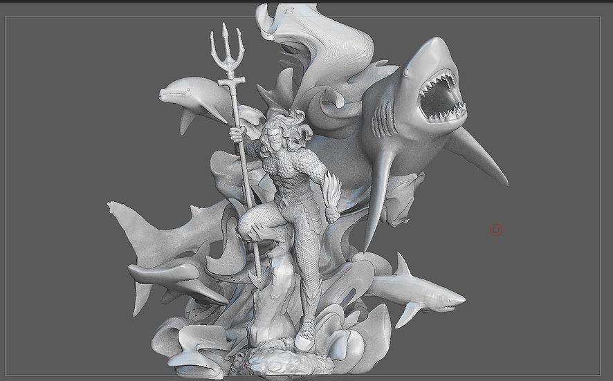 AQUAMAN MOVIE DC 3D PRINTABLE STATUE