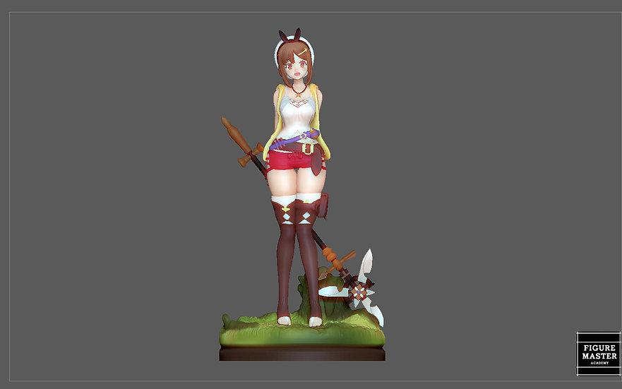 RYZA ATELIER STATUE GAME CHARACTER CUTE PRETTY GIRL ANIME 3D PRINT MODEL
