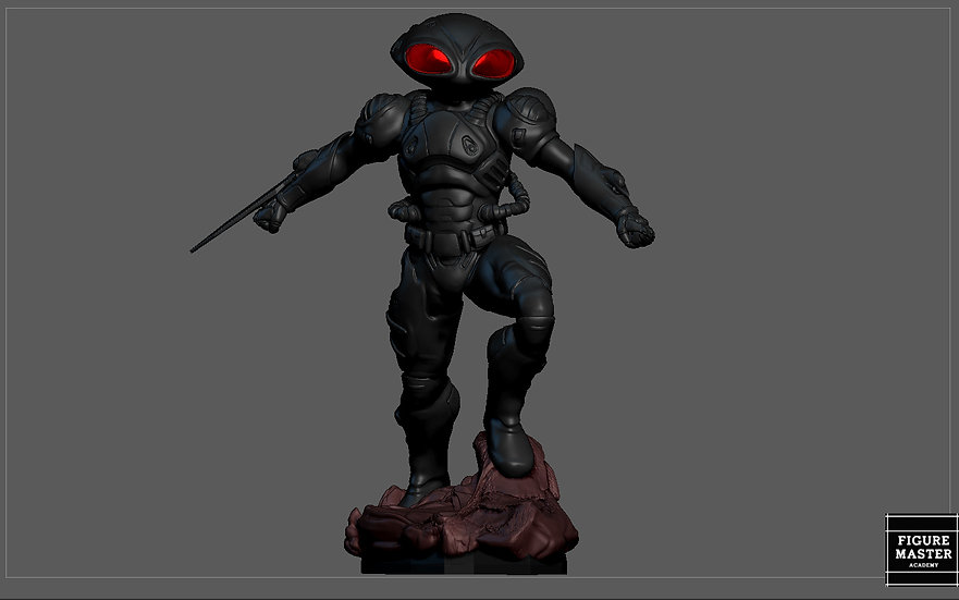 BLACK MANTA AQUAMAN DC MOVIE CHARACTER VILLAIN 3D PRINT