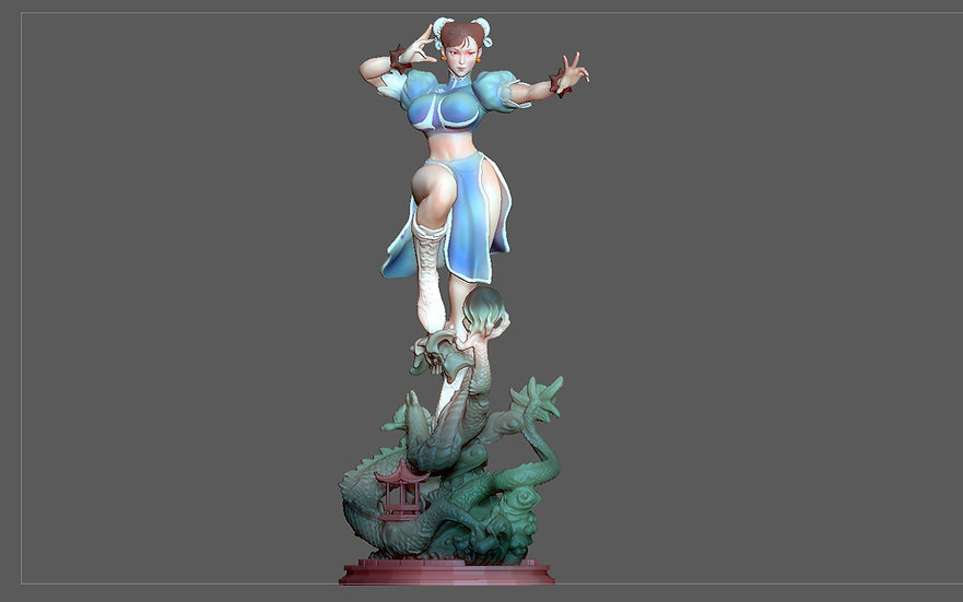 CHUNLI STREETFIGHTER SEXY STATUE GIRL FEMALE CHARACTER GAME 3D print model