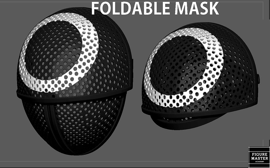 SQUID GAME MASK FOLDABLE LIFE SIZE COSPLAY NETFLIX PROPS REPLICA 3D PRINT