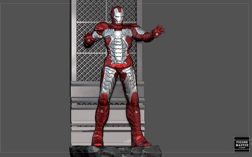IRONMAN MARK 5 MK5 MARVEL TONY STARK MCU 3D PRINT MODEL