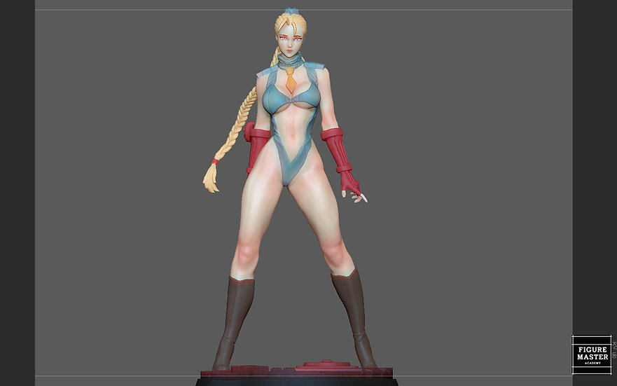 CAMMY STREET FIGHTER GAME CHARACTER GIRL ANIME WOMANSTATUE 3D print model