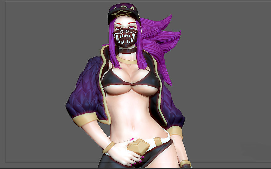 AKALI SEXY STATUE LEAGUE OF LEGENDS GAME FEMALE CHARACTER GIRL 3D PRINT