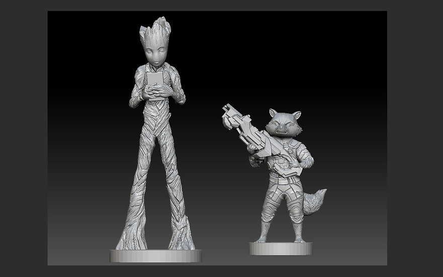 ROCKET GROOT PACK AVENGERS MCU GUARDIANS OF THE GALAXY