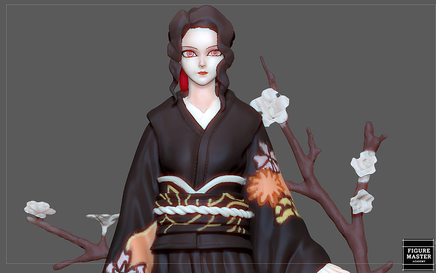 MUZAN KIMONO KIMETSU NO YAIBA ANIME CHARACTER PRETTY CUTE GIRL