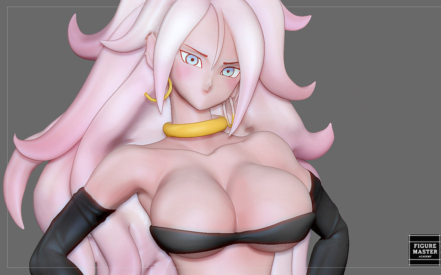 ANDROID 21 SEXY STATUE DRAGONBALL ANIME CHARACTER GIRL 3D print model