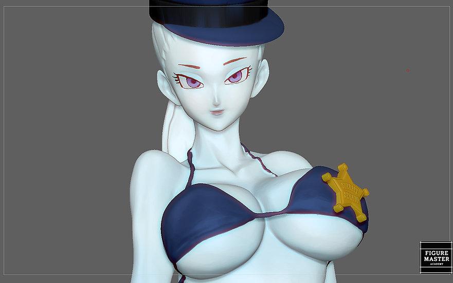 VADOS POLICE VIKINI SEXY girl statue dragonball anime character VIKINI 3d print