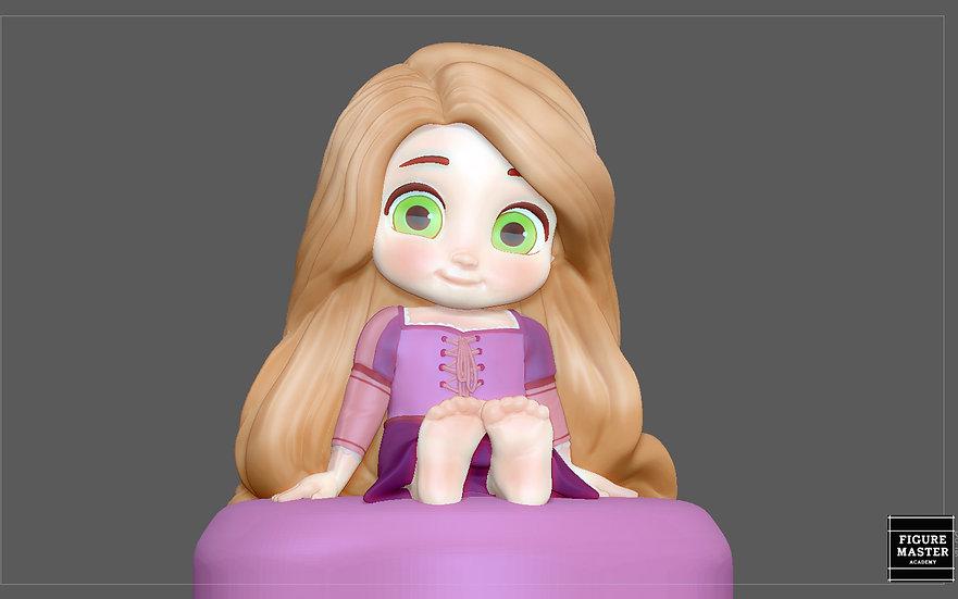 RAPUNZEL BABY PRINCESS DISNEY CHARACTER CUTE 3D PRINT MODEL