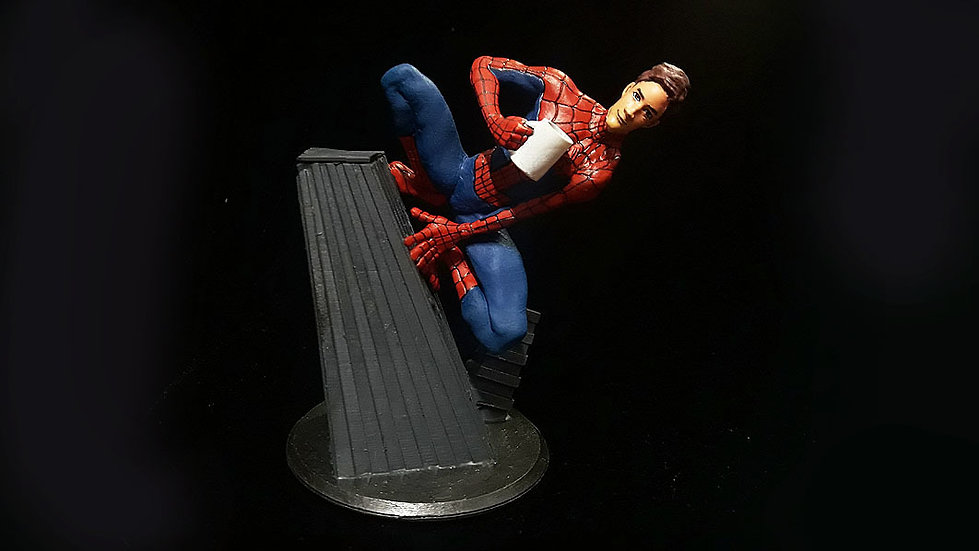 SPIDERMAN PETER B PARKER INTO THE SPIDERVERSE ANIME CHARACTER 3D PRINT STL FILE