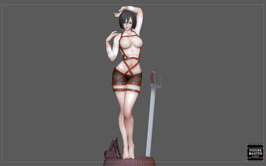 MIKASA ACKERMAN ATTACK ON TITIAN ANIME SEXY GIRL CHARACTER 3D PRINT MODEL