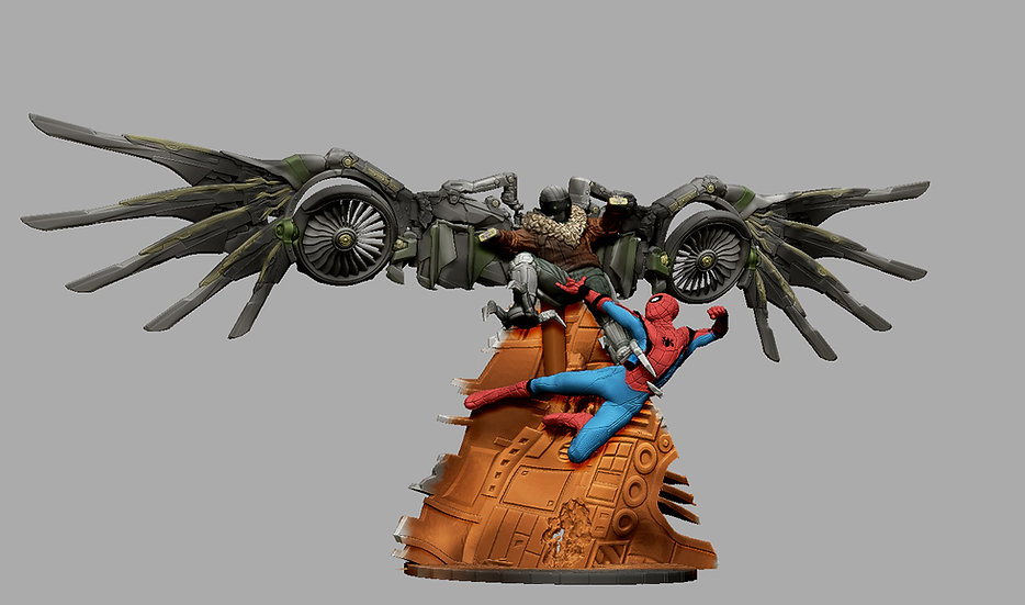 VULTURE SPIDERMAN HOMECOMING MARVEL ANIME CHARACTER 3D PRINT STL FI
