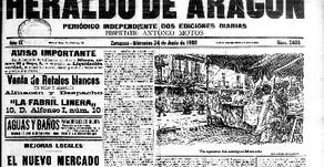 Portada de Herado de Aragon dia de inauguracion / Historia Mercado Central Zaragoza