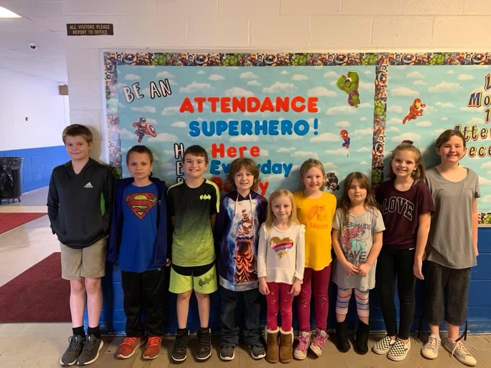 BES Attendance Superheroes!