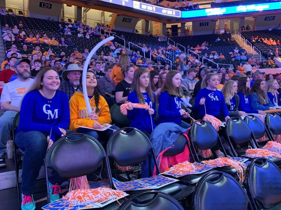 Cheering on the Lady Vols!