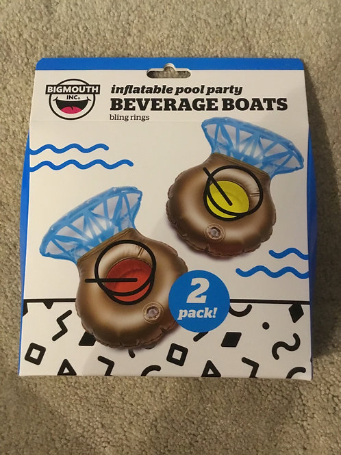 Inflatable pool party ring bling rings