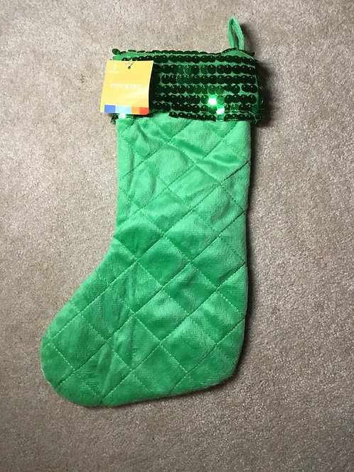 Green fancy stocking