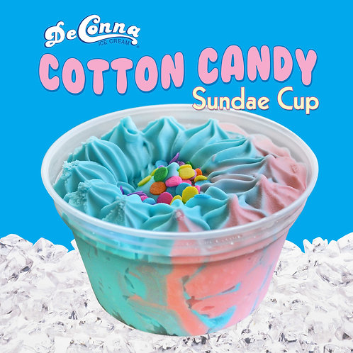 Cotton Candy  Sundae Cup