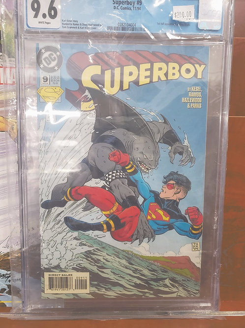 Superboy #9 (1994, DC - 1st app. of King Shark from THE SUICIDE SQUAD) CGC 9.6