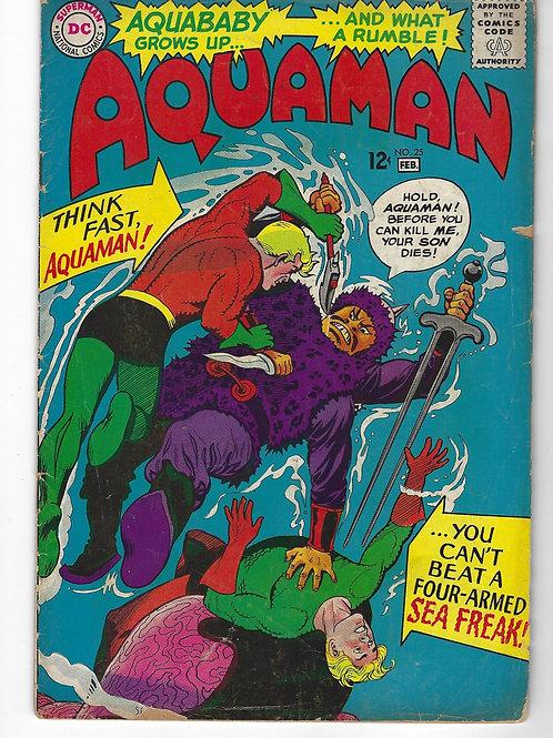Aquaman #25 (DC Comics - Silver Age,1966) Aquababy -  3.0, good reader copy